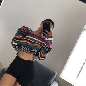 Striped crop top NWT